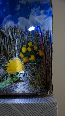 Perspective Landscape (top removed), Detail: Bees Panel, lighting detail